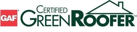 GAF Certified Green Roofer logo for AED Roofing and Siding providing services to Virginia Beach residents