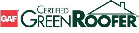 GAF Certified Green Roofer logo for AED Roofing and Siding serving Chesapeake, VA