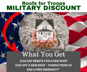 Military roofing discount in vb