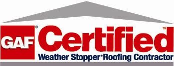 GAF Certified Roofer logo for AED Roofing and Siding serving the Portsmouth community